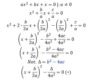 ecuatii de gradul doi formula lui delta