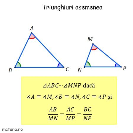 triunghiuri asemenea